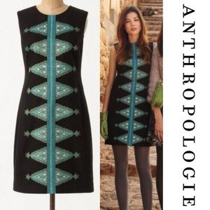 Anthropologie Tabitha Split Diamonds Shift Dress 8